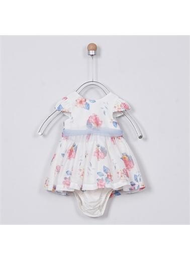 Panço Kız Bebek Elbise 2011GB26009 Beyaz